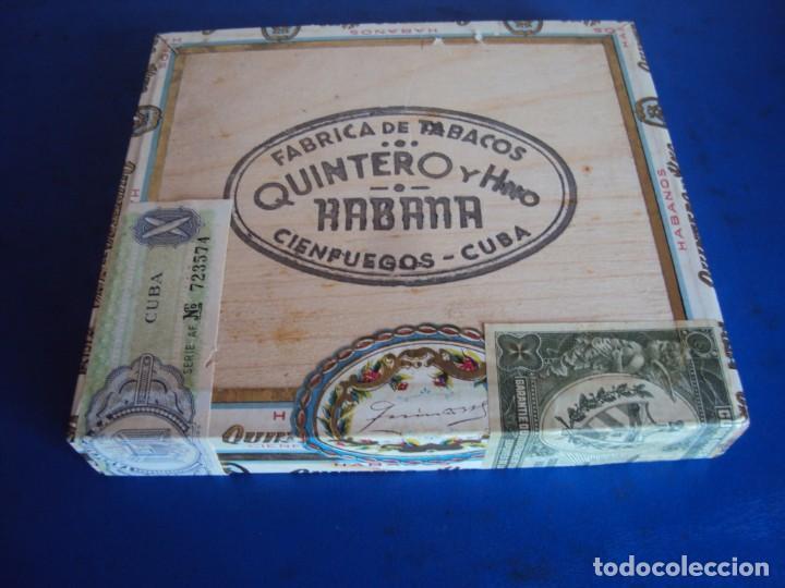 (TA-210100)CAJA DE PUROS SIN ABRIR PRECINTADA QUINTERO Y HNO. CIENFUEGOS - CUBA (Coleccionismo - Objetos para Fumar - Cajas de Puros)