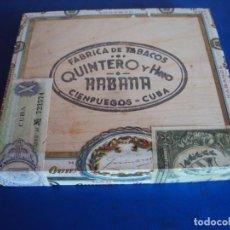 Cajas de Puros: (TA-210100)CAJA DE PUROS SIN ABRIR PRECINTADA QUINTERO Y HNO. CIENFUEGOS - CUBA. Lote 234706100