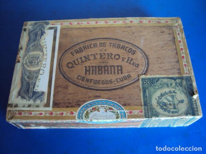 (TA-210101)CAJA DE PUROS SIN ABRIR PRECINTADA 25 LONDRES QUINTERO Y HNO. CIENFUEGOS - CUBA (Coleccionismo - Objetos para Fumar - Cajas de Puros)