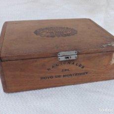 Cajas de Puros: ANTIGUA CAJA DE PUROS VACÍA - NACIONALES DEL HOYO DE MONTERREY, JOSE GENER, HABANA - RARA. Lote 234773720