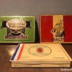 Cajas de Puros: LOTE DE 3 CAJAS DE TABACO DE ABDULLA IMPERIAL PREFENRENCE, CIGARRETES BALTO Y ABDULLA SALI. Lote 234945050