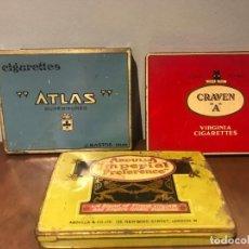 """Cajas de Puros: LOTE DE 3 CAJAS DE TABACO DE ABDULLA IMPERIAL PREFENRENCE, GRAVEN """" A """" Y CIGARRETTES AT. Lote 234951175"""