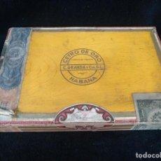 Cajas de Puros: CAJA DE PUROS CENTRO DE ORO, HABANA, CUBA, CONTIENE 3 PUROS. Lote 235635005