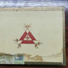 Cajas de Puros: ANTIGUA CAJA DE PUROS HABANOS MONTECRISTO 10 TUBOS (CAJA PRECINTADA). Lote 236643175