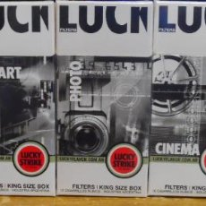Cajas de Puros: LOT 5 UNNOPENED BOX LUCKY STIKE 10 FROM ARGENTINA COMPELTE COLLECTION. Lote 244202900