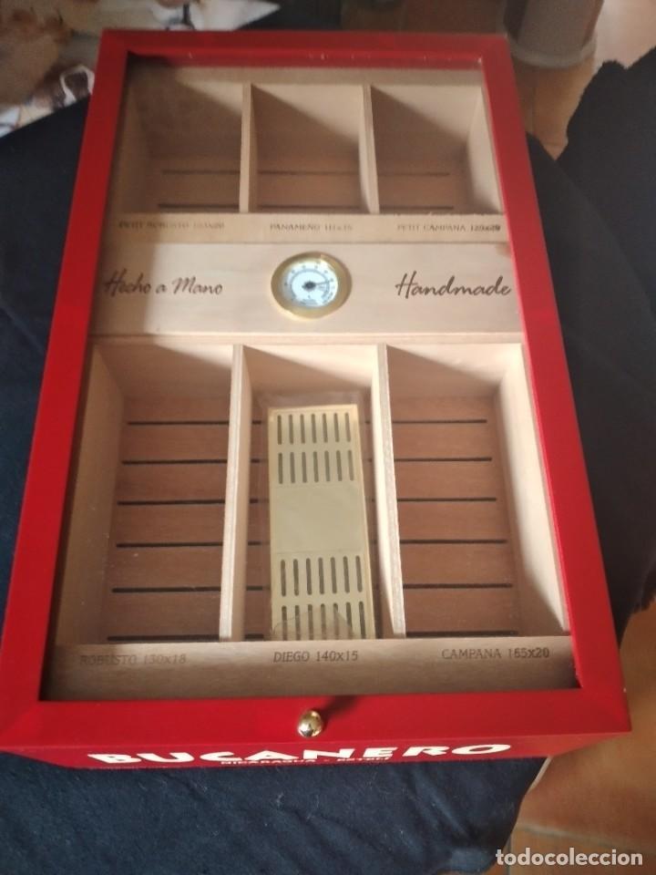 Cajas de Puros: Humificador de puros bucanero nicaragua esteli,hecho a mano,con el nombre de los puros, - Foto 2 - 244426575