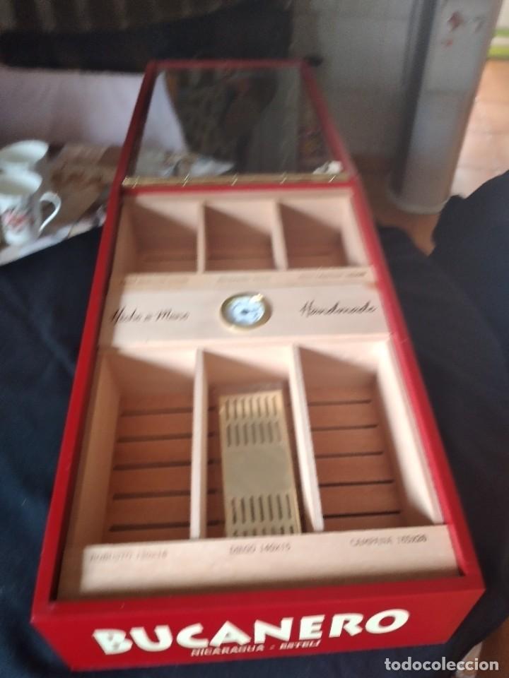 Cajas de Puros: Humificador de puros bucanero nicaragua esteli,hecho a mano,con el nombre de los puros, - Foto 4 - 244426575