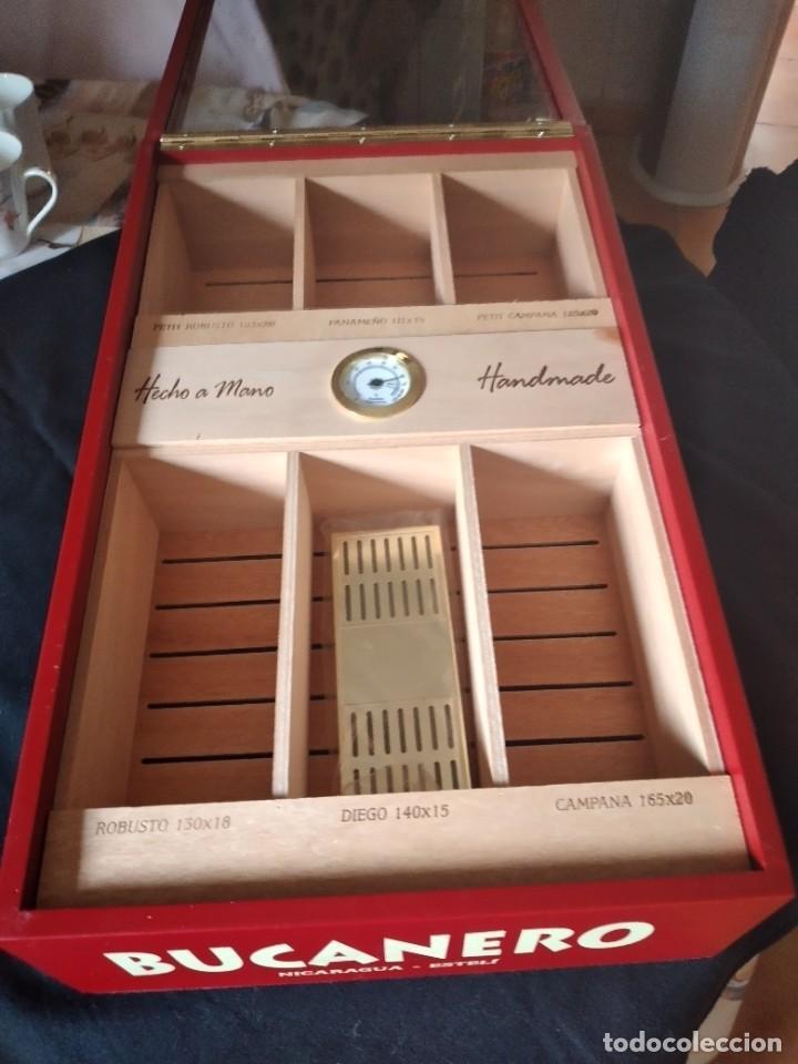 Cajas de Puros: Humificador de puros bucanero nicaragua esteli,hecho a mano,con el nombre de los puros, - Foto 5 - 244426575