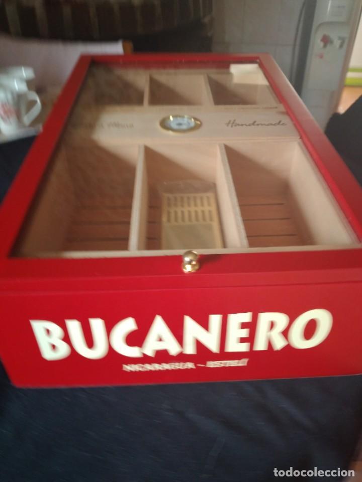 Cajas de Puros: Humificador de puros bucanero nicaragua esteli,hecho a mano,con el nombre de los puros, - Foto 17 - 244426575
