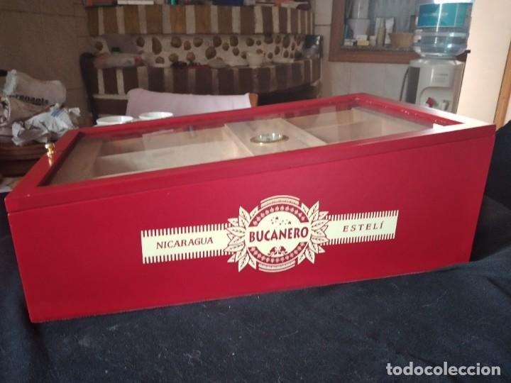 Cajas de Puros: Humificador de puros bucanero nicaragua esteli,hecho a mano,con el nombre de los puros, - Foto 18 - 244426575