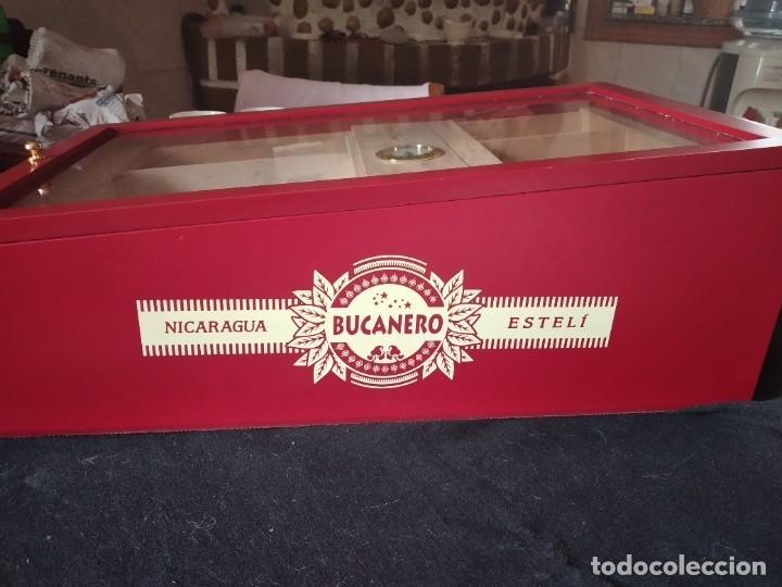Cajas de Puros: Humificador de puros bucanero nicaragua esteli,hecho a mano,con el nombre de los puros, - Foto 19 - 244426575