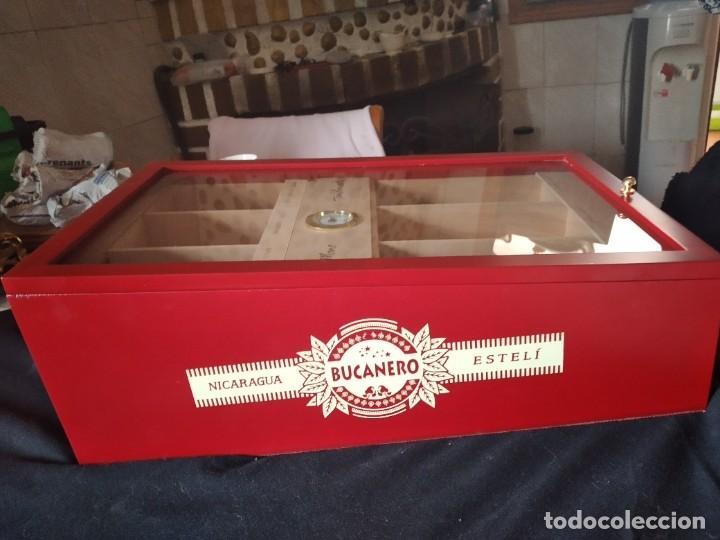 Cajas de Puros: Humificador de puros bucanero nicaragua esteli,hecho a mano,con el nombre de los puros, - Foto 21 - 244426575