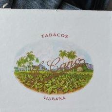 Cajas de Puros: CAJA DE PUROS HABANOS FLOR DE CANO 25 PREFERIDOS HABANA CUBA FULL. Lote 244604000