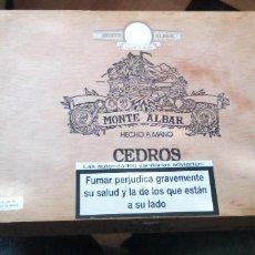 Cajas de Puros: CAJA DE PUROS VACIA MONTE ALBAR HECHO A MANO EN CENTROAMERICA CEDROS. Lote 244807730