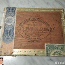 Cajas de Puros: CAJA VACÍA PUROS HABANOS LA FLOR DE ZAIDA DE M.HERNANDEZ - PINAR DEL RÍO - MEDIDAS 15*20*3 CM.. Lote 245717140