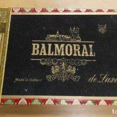 Cajas de Puros: ANTIGUA CAJA DE TABACO VACIA BALMORAL DE LUXE .. Lote 245779585