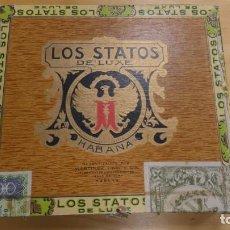 Cajas de Puros: ANTIGUA CAJA DE PUROS VACI .LOS STATOS DE LUX . HABANA. Lote 245784505