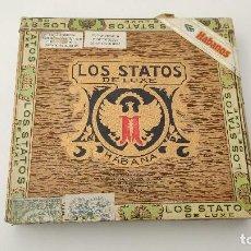 Cajas de Puros: CAJA PURO VACIA LOS STATOS DE LUXE 10 SELECTOS. Lote 245808940