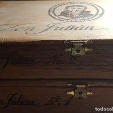 Cajas de Puros: CAJA PUROS VACÍAS DON JULIÁN Nº 1 Y DON JULIÁN Nº 2 25 CIGARROS LUJO LA DALIA. Lote 246450035