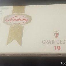 Cajas de Puros: CAJA DE PUROS SOTABANA 10 CEDROS CON OCHO PUROS. Lote 246608575
