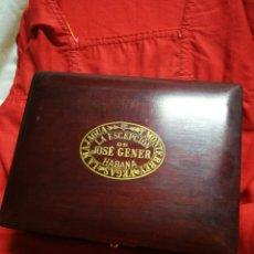 Cajas de Puros: PRECIOSA CAJA PUROS JOSÉ GENER LA ESCEPCIÓN N°2 (HABANA-CUBA)VEGAS,LA MAJAGUA, Y MONTERREY. RARA!!!.. Lote 248794965