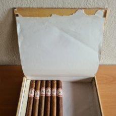Boîtes de Cigares: CAJA Y 6 PUROS HABANOS HOYO DE MONTERREY JOSÉ GENER - DOUBLE CORONAS - HECHOS A MANO - HABANA CUBA. Lote 251676370