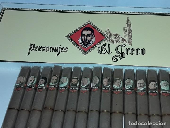 CAJA DE PUROS PERSONAJES EL GRECO CON 20 PUROS CIGARROS ISLAS CANARIAS (Coleccionismo - Objetos para Fumar - Cajas de Puros)