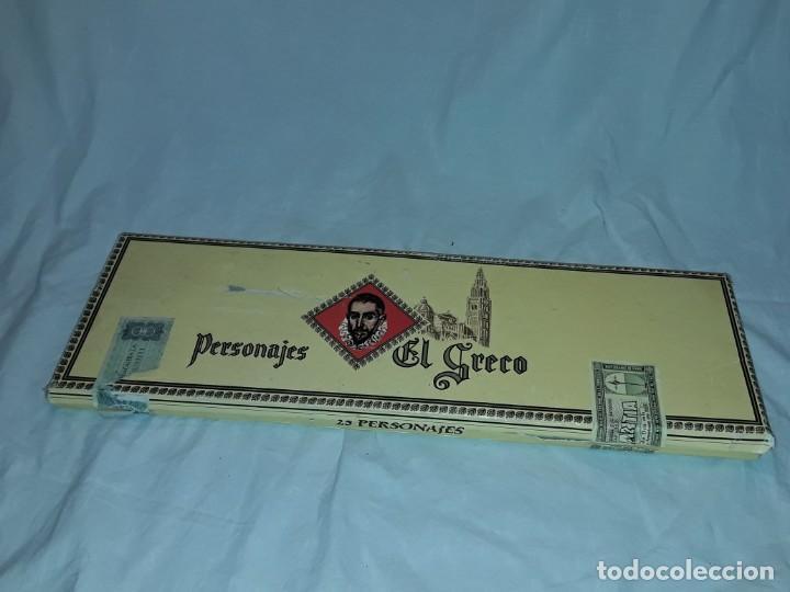 Cajas de Puros: Caja de puros personajes El Greco con 20 puros Cigarros Islas Canarias - Foto 2 - 252537015