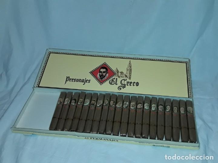 Cajas de Puros: Caja de puros personajes El Greco con 20 puros Cigarros Islas Canarias - Foto 3 - 252537015