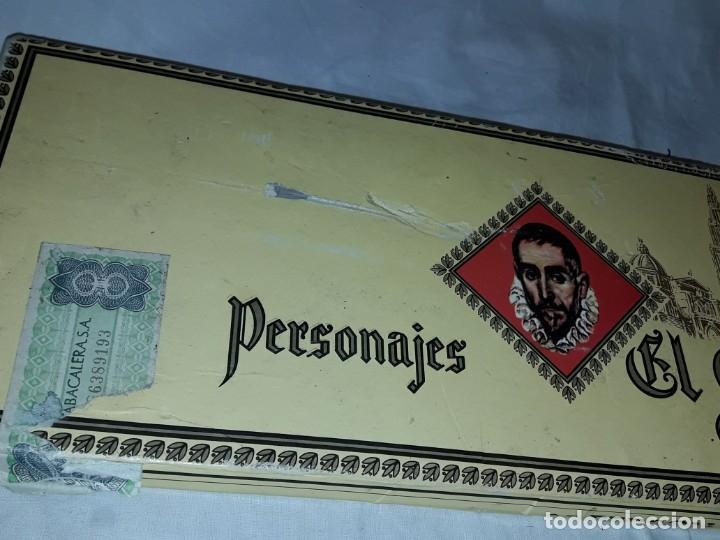 Cajas de Puros: Caja de puros personajes El Greco con 20 puros Cigarros Islas Canarias - Foto 10 - 252537015