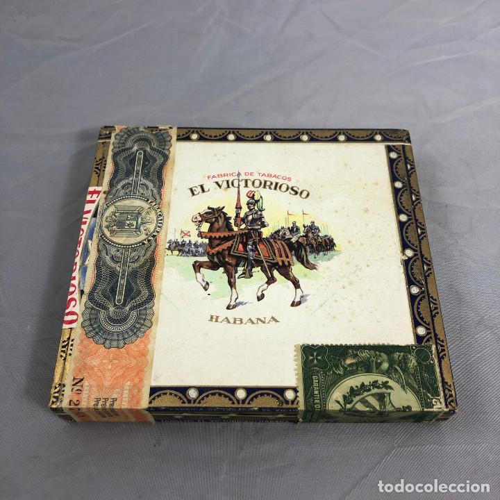 CAJA DE PUROS, EL VICTORIOSO HABANA, PRECINTADA SIN ABRIR. 10 SELECCIONES. (Coleccionismo - Objetos para Fumar - Cajas de Puros)