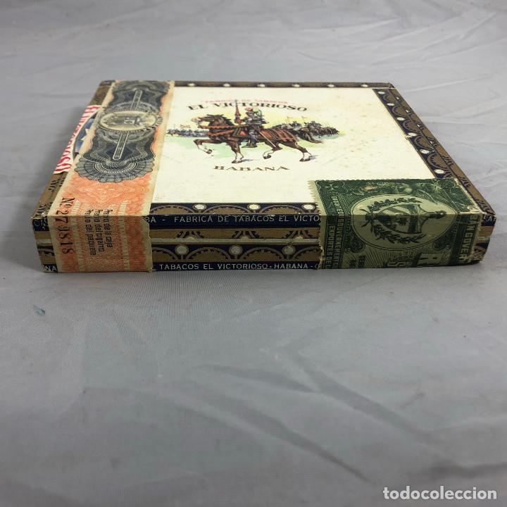 Cajas de Puros: Caja de puros, el Victorioso Habana, precintada sin abrir. 10 selecciones. - Foto 2 - 253352970