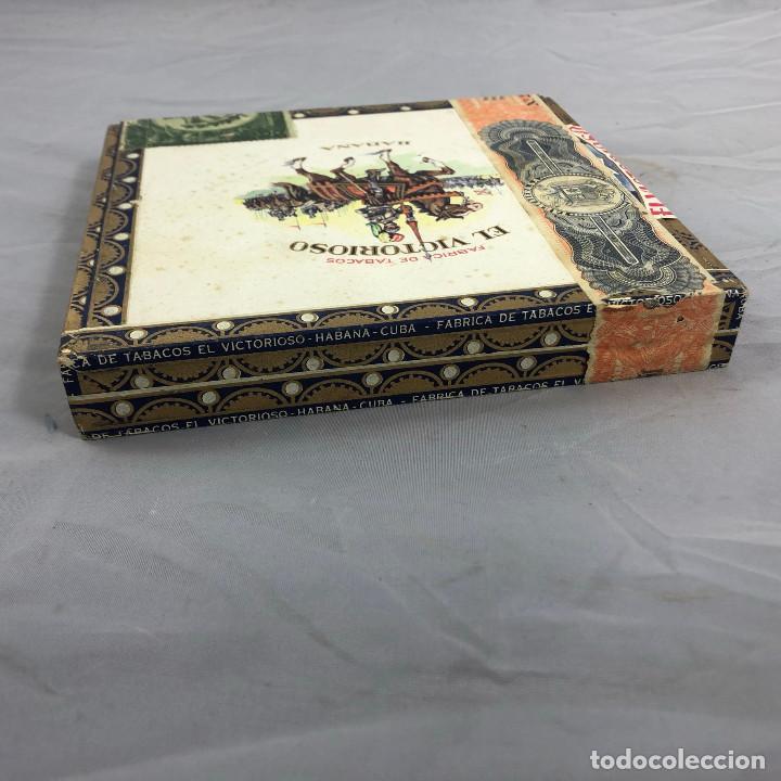 Cajas de Puros: Caja de puros, el Victorioso Habana, precintada sin abrir. 10 selecciones. - Foto 4 - 253352970