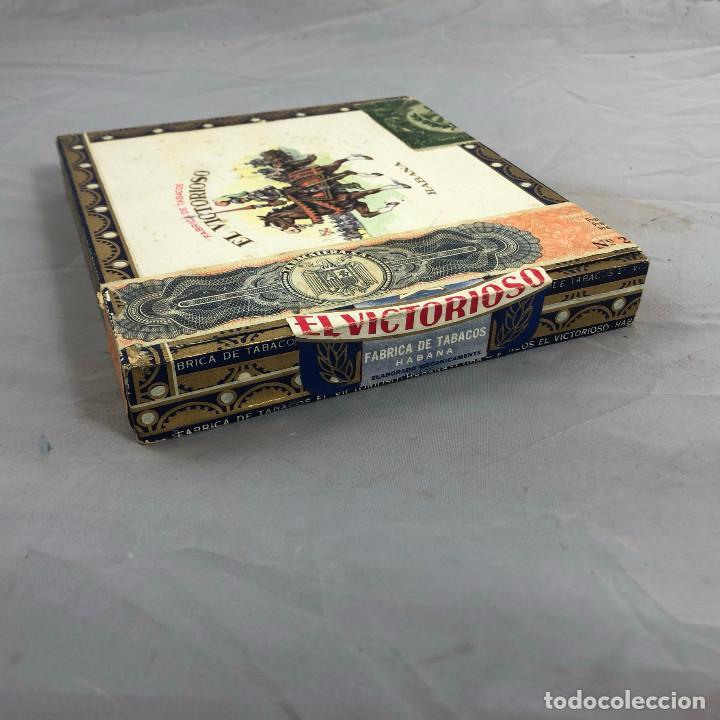 Cajas de Puros: Caja de puros, el Victorioso Habana, precintada sin abrir. 10 selecciones. - Foto 5 - 253352970