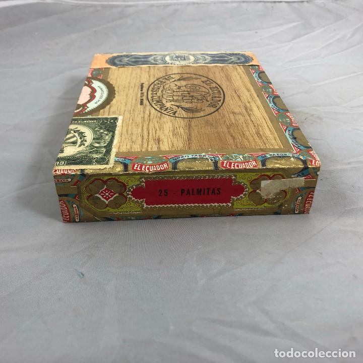 Cajas de Puros: Caja de puros, El ecuador de pazos y compañia. 25 palmitas, precintada sin abrir. - Foto 3 - 253355655