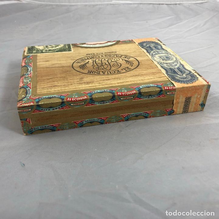 Cajas de Puros: Caja de puros, El ecuador de pazos y compañia. 25 palmitas, precintada sin abrir. - Foto 4 - 253355655