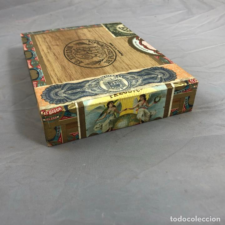 Cajas de Puros: Caja de puros, El ecuador de pazos y compañia. 25 palmitas, precintada sin abrir. - Foto 5 - 253355655