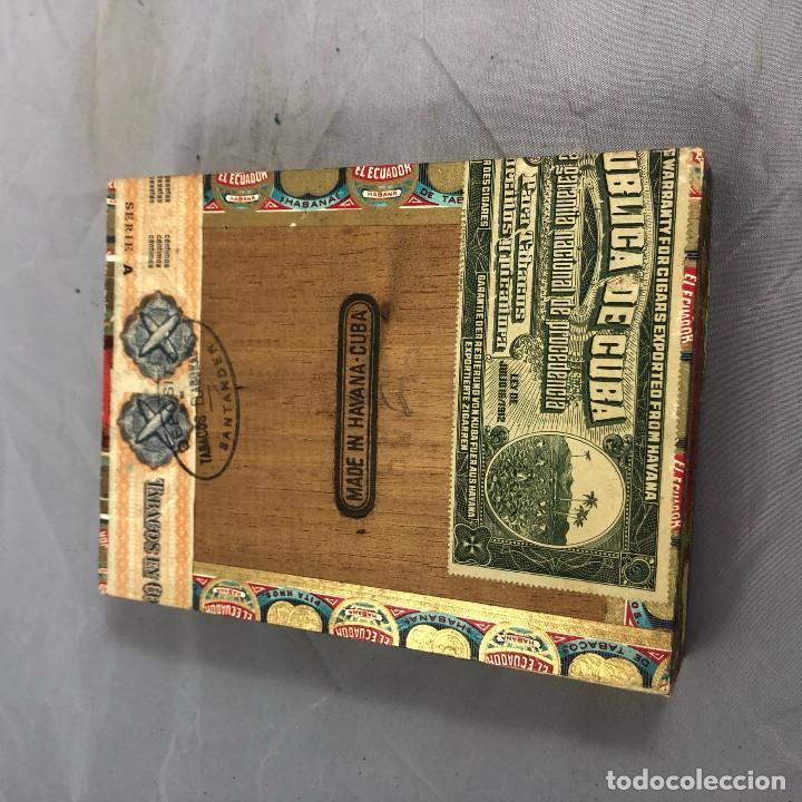 Cajas de Puros: Caja de puros, El ecuador de pazos y compañia. 25 palmitas, precintada sin abrir. - Foto 6 - 253355655