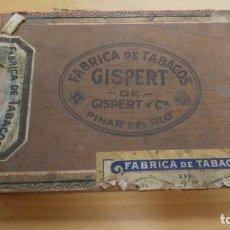 Cajas de Puros: ANTIGUA CAJA DE PUROS VACIA FABRICA DE TABACOS GISPERT DE GISPERT Y CIA . PINAR DEL RIO. Lote 254726940