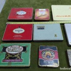 Cajas de Puros: LOTE 9 CAJITAS METALICAS PARA PUROS TABACO CIGARRILOS, ROMEO Y JULIETA MINOR CRAVEN LE CLOU HABANOS. Lote 255941825