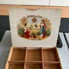 Cajas de Puros: MUY ANTIGUA CAJA DE PUROS HABANOS. MODELO DE CUBA DE R.A Y CIA. HABANA.. Lote 257605750