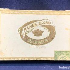 Cajas de Puros: CAJA PUROS MARIA GUERRERO CUBA LA HABANA 25X15X4CMS. Lote 258041485