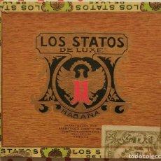 Scatole di Sigari: ANTIGUA CAJA DE PUROS HABANOS LOS STATOS DE LUXE, 10 SELECTOS (PRECINTADA). Lote 260078160