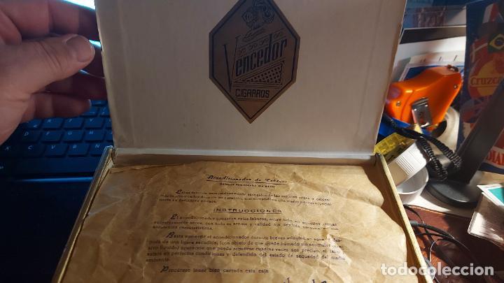 Cajas de Puros: CAJA DE PUROS VACIA DE CARTON DURO DE CIGARROS VENCEDOR - Foto 3 - 260768350