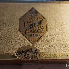 Cajas de Puros: CAJA DE PUROS VACIA DE CARTON DURO DE CIGARROS VENCEDOR. Lote 260768350