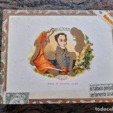 Scatole di Sigari: BOLIVAR. CAJA DE PUROS HABANOS CON 3 CORONAS GIGANTES.. Lote 262057560