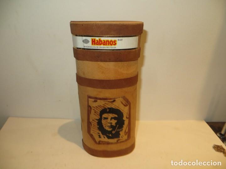 COHIBA RARA CAJA CILINDRICA CHE GUEVARA CON 9 PUROS COHIBA ESPLENDIDOS (Coleccionismo - Objetos para Fumar - Cajas de Puros)