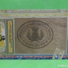 Cajas de Puros: LABORES DE CANARIAS 25 BREVAS ESPECIALES SINDICATO DE FABRICANTES CANARIAS, VER IMAGENES DETALLADAS. Lote 262368610