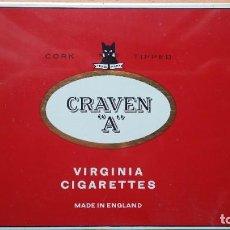 Cajas de Puros: CAJA METÁLICA CRAVEN A VIRGINIA CIGARETTES ENGLAND. Lote 263185705