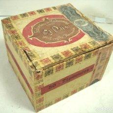Cajas de Puros: RARA CAJA DE PUROS -EL PAIS 50 ESPECIALES-FCO.TRUJILLO HERNANDEZ-ANTIGUA MADERA TABACO CIGARROS. Lote 265142394